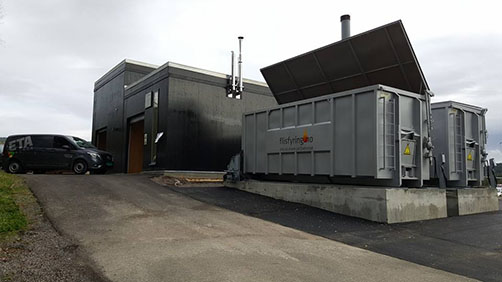 Gassifiseringsanlegget på Evenstad.
